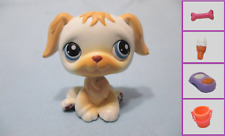 Littlest Pet Shop Dog Golden Retriever White 140 and Free Accessory Authentic