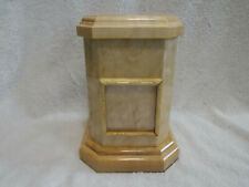 Handmade Quilted Curly Maple Wood Wooden Dog Cat Pet Cremation Urn Natural