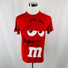 M&M's M&M Graphic Face Chocolate Mars Candy Costume T-Shirt Mens Medium M