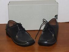 Hush Puppies Carlisle Black Leather Shoe Size 6 1/2