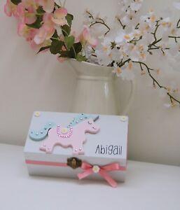 Unicorn Trinket Box, Girls Jewellery Box, Girls Birthday Gift Idea, Personalised