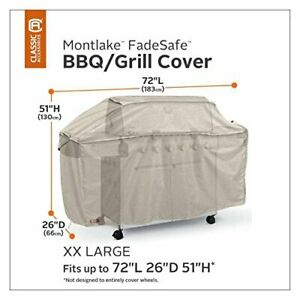 Classic Accessories Montlake FadeSafe Grill Cover - Heavy-Duty BBQ Cover with So