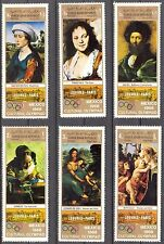 Yemen 1969 Olympics Games Art Paintings Louvres set MNH** Mi.:862/7 7,00Eur