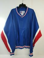 Vintage  Original 90's RUSSELL ATHLETIC Pullover windbreaker L  Red White Blue