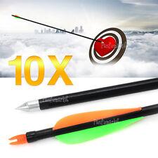 "10X 32"" FiberGlass Arrows 15-80lb Archery Hunting Compound Bow Fiber Glass Bows"