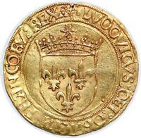 LOUIS XII Écu d'or au soleil 25/04/1498 Lyon Dy.647