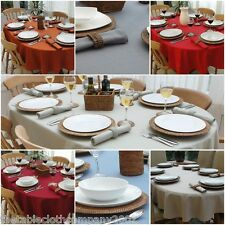 Superbe 100% COTTON OVAL TABLECLOTH   7 COLOURS, 3 SIZES (#2)