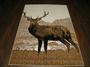 Modern Approx 6x4 120x170cm Woven Backed Stag Rugs Sale  Top Quality Beige