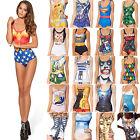 donna stampa pezzo unico Costume intero da bagno bikini spiaggia
