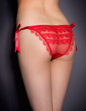 AGENT PROVOCATEUR RED CANCAN TIE SIDE BRIEF SM / MED  8-12  BNWT