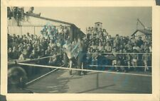 WW2 British Prisoner's Of War POW Boxing Action Shot  Stalag XXI D Poland