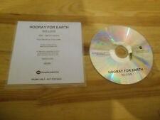 CD Indie Hooray For Earth - No Love (1 Song) Promo MEMPHIS INDUSTRIES