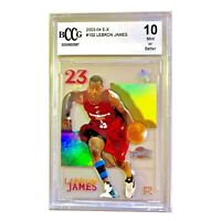 2003-2004 Lebron James Fleer E-X #102 Rookie Card RC BCCG Graded 10 MINT RARE