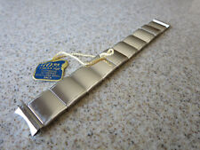 Kreisler FLEX LET 10k White Gold Filled Polished 18mm Curved End Watch Band W75