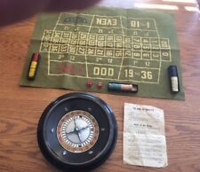 VINTAGE ROULETTE GAME COMPLETE WITH ROULETTE WHEEL BY ROTTGAMES N.Y.C.