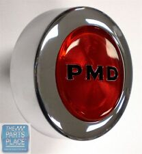 1967-79 Pontiac PMD Rally II Center Cap - Red Bolt On - Each