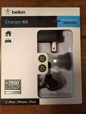 Belkin Usb Charging Kit with Wall Charger, Car Charger for Apple iPhone Black
