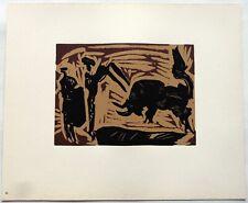 Pablo PICASSO LINOGRAVURE 1962 cercle d'art Banderilles PI40