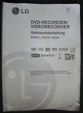 Bedienungsanleitung für DVD- / VHS-Recorder LG RC278 / RC288 .. Owner´s Manual