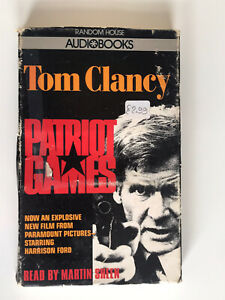 TOM CLANCY PATRIOT GAMES AUDIOBOOK VINTAGE TAPE CASSETTE Read By Martin Sheen