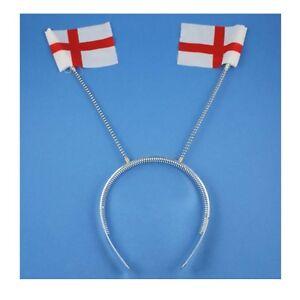 6 x ENGLAND Flag St Georges Cross Deeley Boppers Headbands