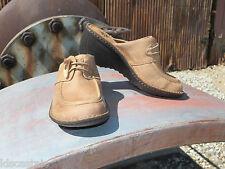 New Womens UGG Valle Chestnut Leather Clog Mule Slide Shoes Sz US 7 UK 5.5 EU 38