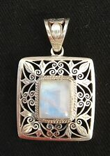Moon Stone Antique Style Hand Crafted Pendent Silver 92.5 (New)