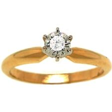 0.29ct ROUND DIAMOND SOLITAIRE ENGAGEMENT RING 14k GOLD