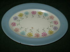 STEUBENVILLE #1296  OVAL PLATTER BLUE AND FLORAL