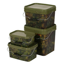 Gardner Square/Rectangular Camo Bait Buckets **All sizes Available**