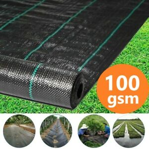 Heavy Duty Weed Control Fabric Membrane Suppressant Barrier Garden Ground Cover