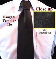 York Rite Knights Templar Crown Black Masonic Tie