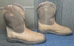 Mens ARIAT Groundbreaker Waterproof Steel Toe Work Boots 10 EE