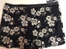 INC International Concepts Silver Embroidered Faux Leather Trim Black 8