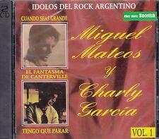 Miguel Mateos y Charly Garcia Idolos del Rock Argentino 2CD New Nuevo sealed