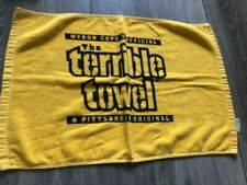 "MYRON COPE'S OFFICIAL ""THE TERRIBLE TOWEL"" PITTSBURGH STEELERS 100% cotton"