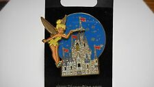 TINKERBELL AND CASTLE PIN SIGNED DISNEY ON BACK