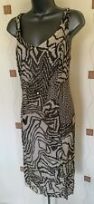 GERRY WEBER DRESS 18 46 LARGE L  COTTON SILK CRINKLE TEA CRUISE WORK NEW £115