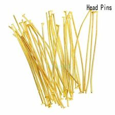 Wholesale Gold Silver Head/Eye/Ball Pins Finding 21/24 Gauge 100pcs Free Ship