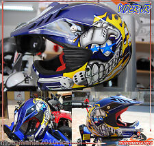 CASCO CROOS BIMBO JIUNIOR ENDURO MOTARD VIPER Jr S880 BLU TG M