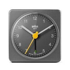 Braun BNC002 Reisewecker / Wecker klassisch, grau, schönes Design, Neu+OVP,66031