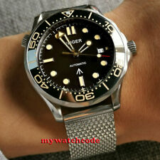 41mm bliger black dial Beige marks Sapphire glass NH35A automatic mens Watch