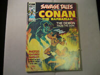 Savage Tales #3 ( Curtis/Marvel 1973 ) Conan The Barbarian Magazine Low Grade