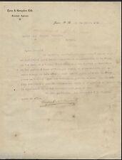 ANTIQUE COMMERCIAL LETTER / TORO & GONZALEZ / JUNCOS PUERTO RICO / 1911 / RARE
