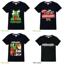Kids Boys Girls UNSPEAKABLE 100% Cotton Short Sleeve T-shirt Top Tee 3-12Yrs AU