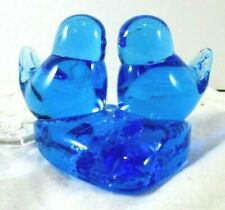 Vintage 1986 Leo Ward SIGNED Double Bluebirds Of Happiness Heart Terra Studios