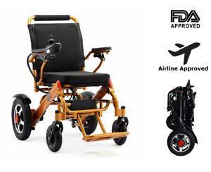 New Electric Motorized Power Wheelchair Folding Lightweight Electric Wheelchair