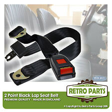 Adjustable 2 Point Lap Seat Belt for Classic Car. Safety Strap In Black