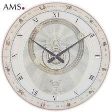 XXL AMS 9232 Wall Clock Aristotle quartz analog round with Animal Zodiac Signs Ø