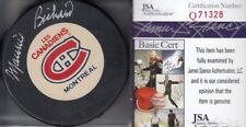 Maurice Richard Autographed Montreal Canadiens Logo Puck (JSA) RARE!